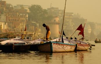Inde Benares Ganges Barque