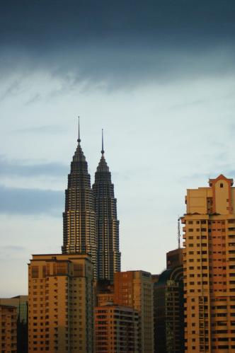Vue sur les tours Petronas depuis le condo de Pauline